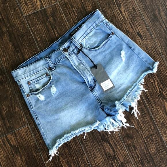 648be4a812 DENIM CoLab Shorts | Nwt Distressed Jean | Poshmark